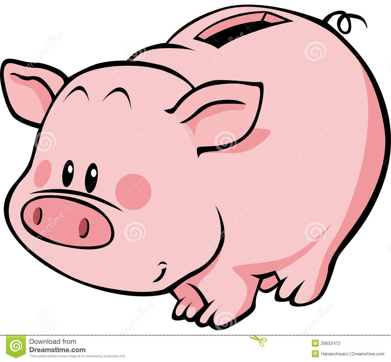 Animated piggy bank clipart graphic free stock Piggy Clipart - Clipart Kid graphic free stock