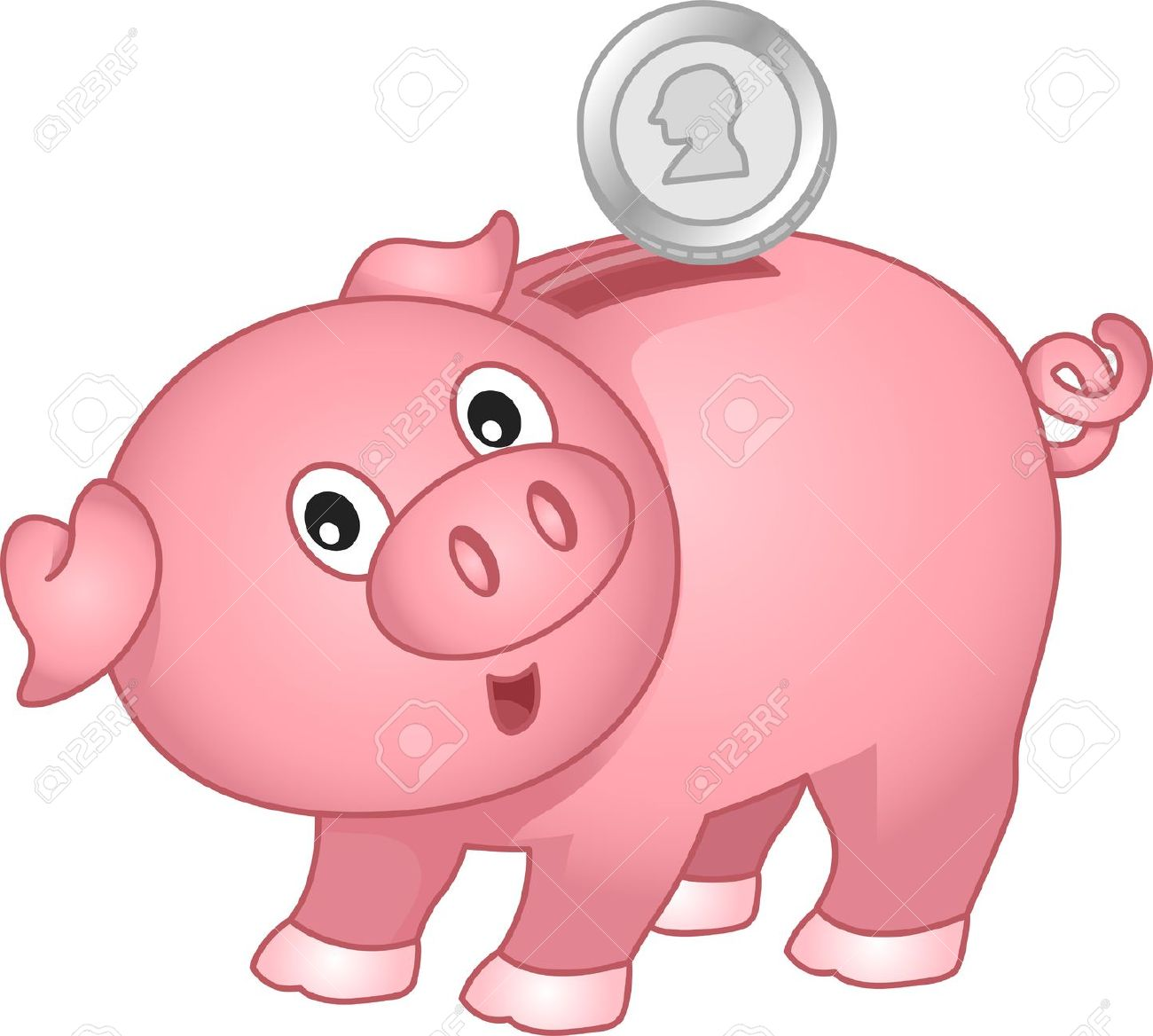 Clip art clipartfest illustration. Animated piggy bank clipart