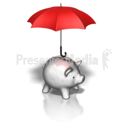 Putting gold coin into. Animated piggy bank clipart