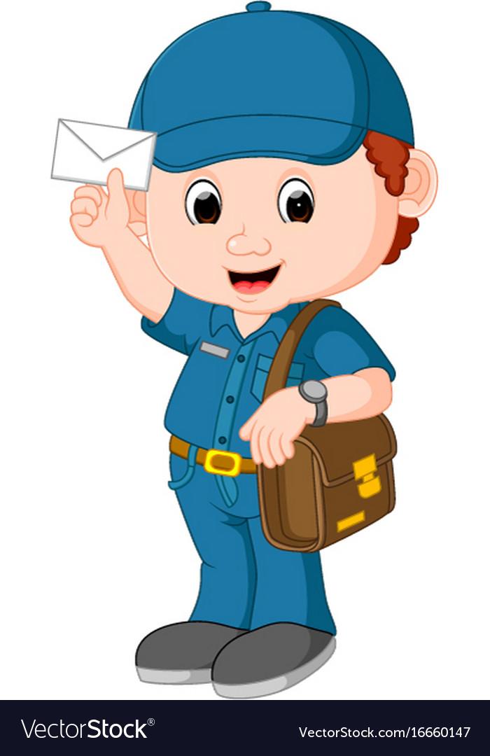 Animated postman clipart svg stock Postman cartoon vector image svg stock