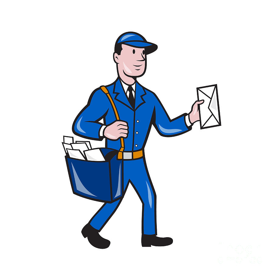 Animated postman clipart banner library library Mailman Postman Delivery Worker Isolated Cartoon by Aloysius - Clip ... banner library library