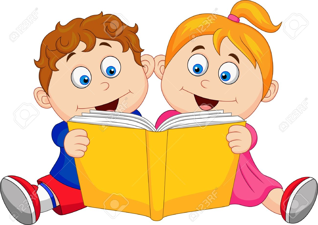 Kids and books clipart vector cartoon free clip art library download Reading Books Cartoon Group with 69+ items clip art library download