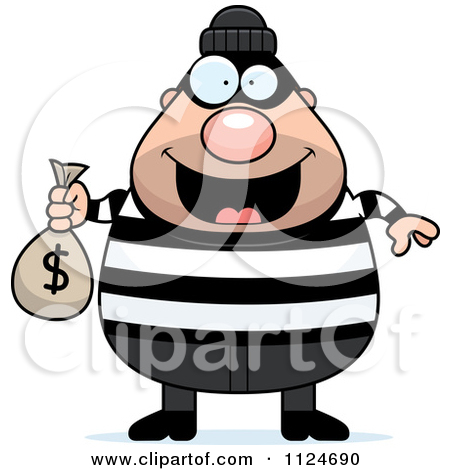 Animated robber clipart. Buff bank carrying a