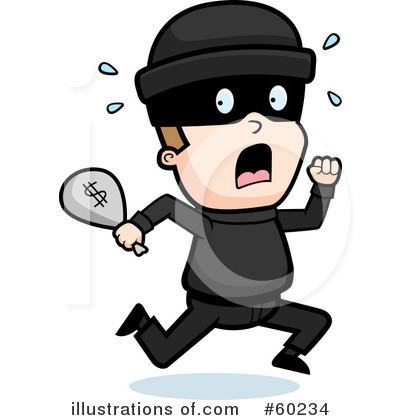Cops and robbers kid. Animated robber clipart