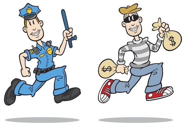 Animated robber clipart. Cops and robbers