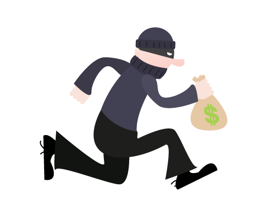 Kid bank png. Animated robber clipart