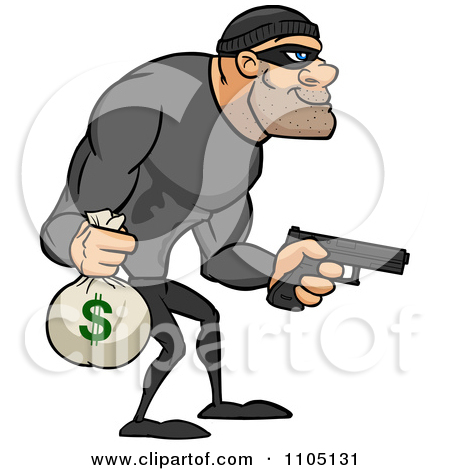 Buff bank carrying a. Animated robber clipart