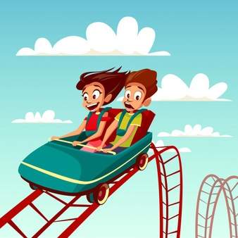 Family on a roller coaster clipart black and white vector transparent download Rollercoaster Vectors, Photos and PSD files | Free Download vector transparent download