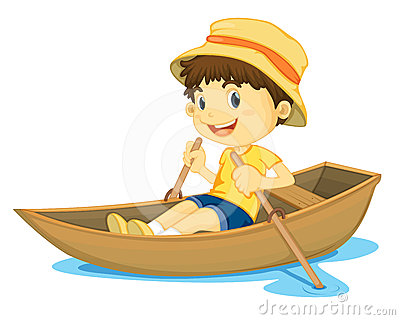 Animated row boat clipart. Kayaking stock illustrations vectors