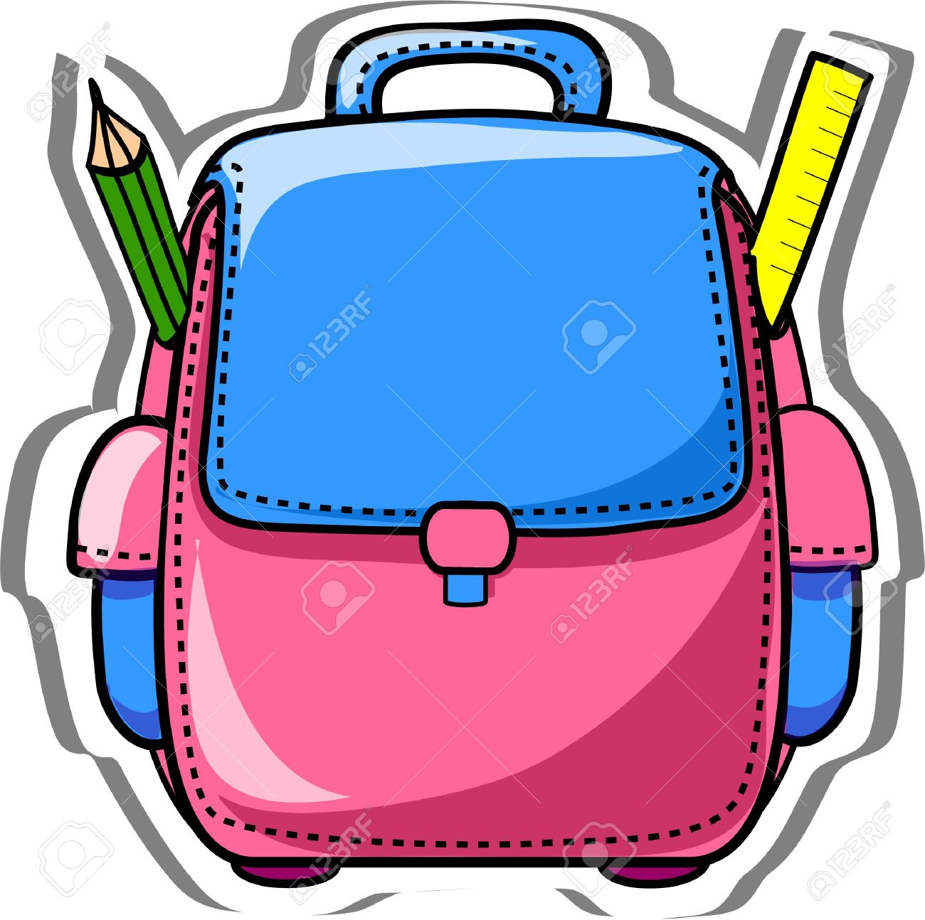 Bag images clipart png black and white stock Animated Book Bags | Free download best Animated Book Bags on ... png black and white stock