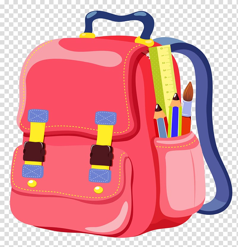 Animated school bag clipart png black and white Bag School Satchel Backpack Online shopping, School Backpack , pink ... png black and white