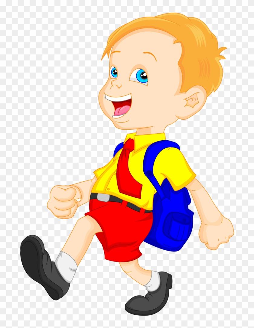 Animated school bag clipart clip art royalty free library Escola & Formatura - School Student With School Bag Clipart, HD Png ... clip art royalty free library