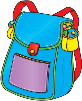 Clipart knapsacl vector royalty free Backpack | clipart | School clipart, Preschool schedule, School ... vector royalty free