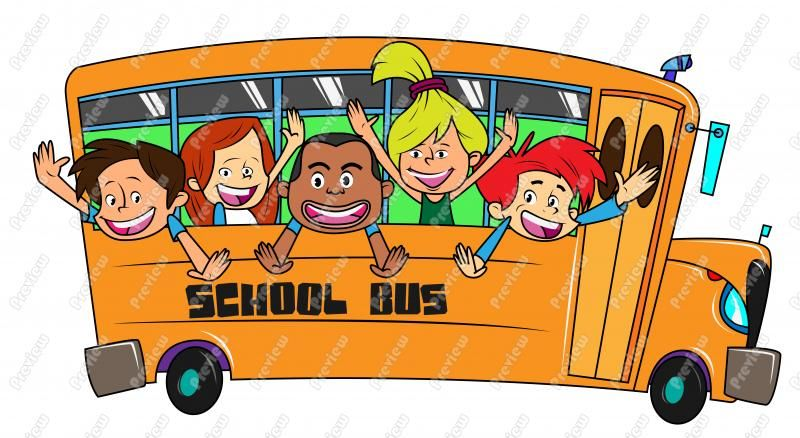 Free cartoon clipart of sights in washington state black and white library Nice Cartoon School Bus Clipart | images from downloadclipart.org ... black and white library
