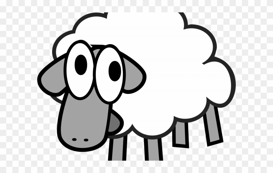 Animated sheep clipart vector black and white download Lamb Clipart Animated - Clipart Sheep - Png Download (#3431752 ... vector black and white download