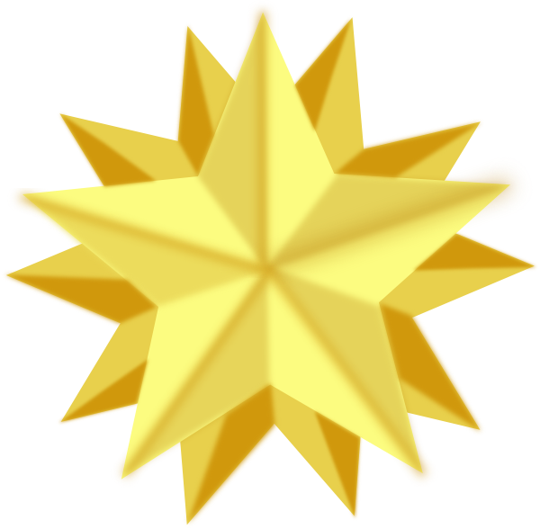 Animated shining star clipart vector black and white download Golden Star Clip Art at Clker.com - vector clip art online, royalty ... vector black and white download