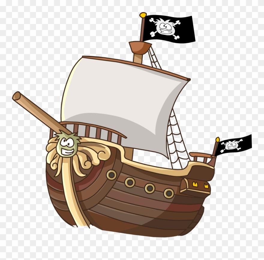 Cartoon sailing ship clipart transparent stock Sailing Ship Clipart Animated - Club Penguin - Png Download (#17301 ... transparent stock