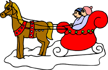Children in a one horse open sleigh clipart svg royalty free library Free Winter Sleigh Cliparts, Download Free Clip Art, Free Clip Art ... svg royalty free library