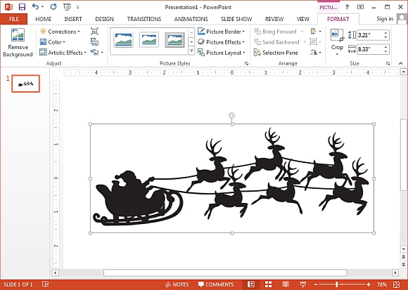 Animated sleigh ride clipart svg royalty free download Santas reindeer sleigh ride clipart - FPPT svg royalty free download