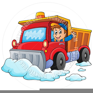 Animated snow plow clipart