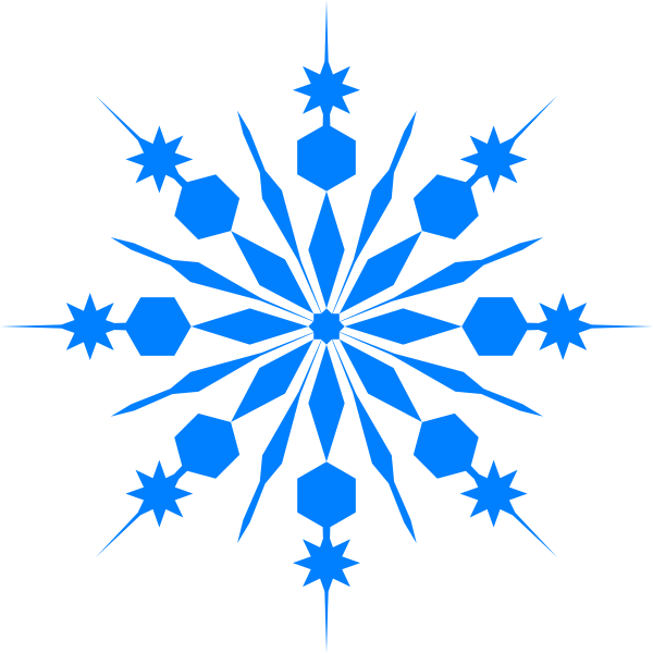 Simple snowflake clipart blue