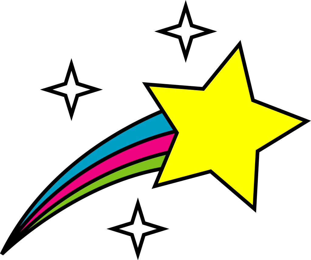 Shooting star clipart kids