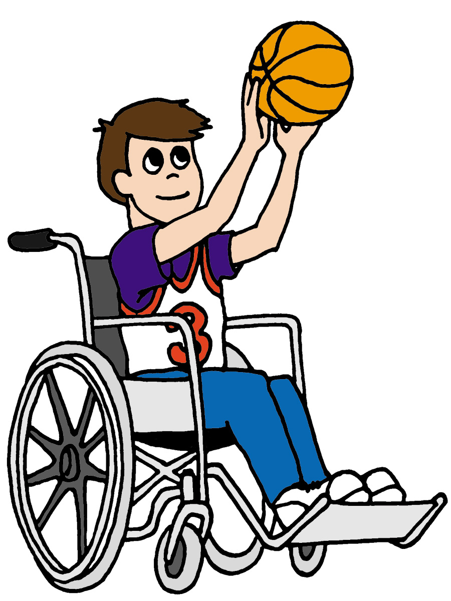 Wheelchair clipart basketball