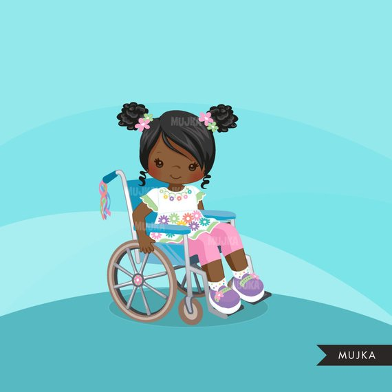 Pink wheelchair from out of my mind clipart clipart free stock Special Needs Wheelchair clipart, disability, kids, characters ... clipart free stock