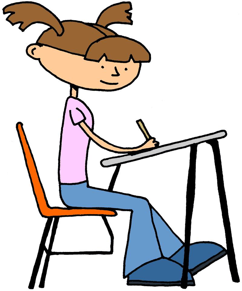 Working hard in school clipart