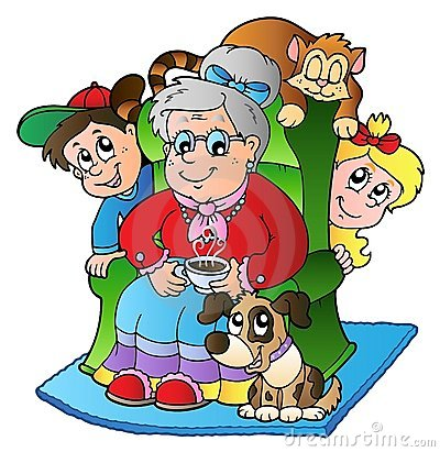 Animated super grandma clipart. Cartoon stock photos images