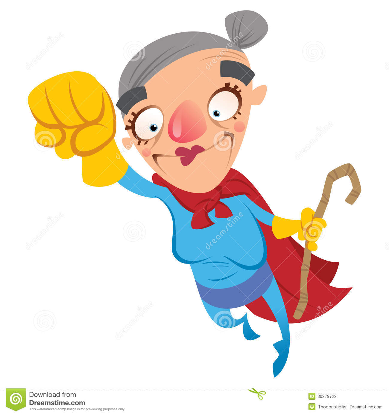 Animated super grandma clipart. Clipartfest cartoon
