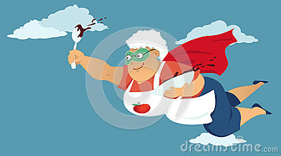Animated super grandma clipart. Stock photos images pictures