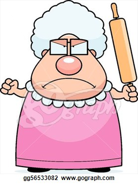 Clipartfest angry grandmother. Animated super grandma clipart
