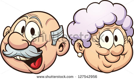 Animated super grandma clipart. Art cartoon grandmother stock