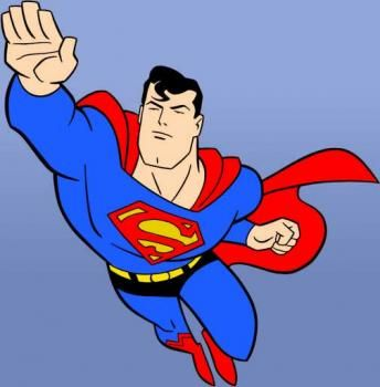 Animated superman clipart.  images about series