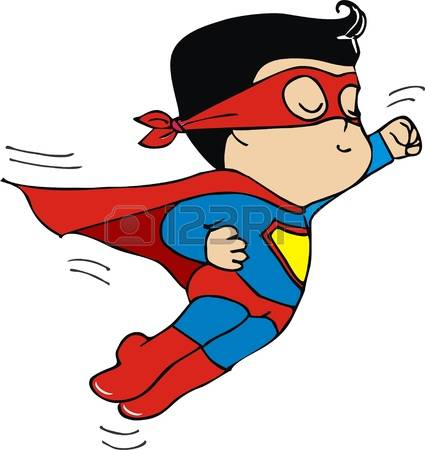Animated superman clipart.  superhero cliparts stock
