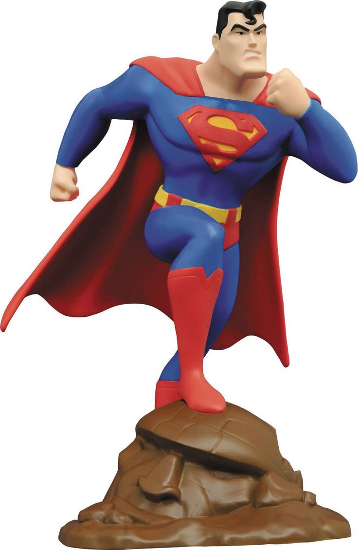 Animated superman clipart banner transparent stock Diamond Select Superman: The Animated Series 9 Inch Statue ... banner transparent stock