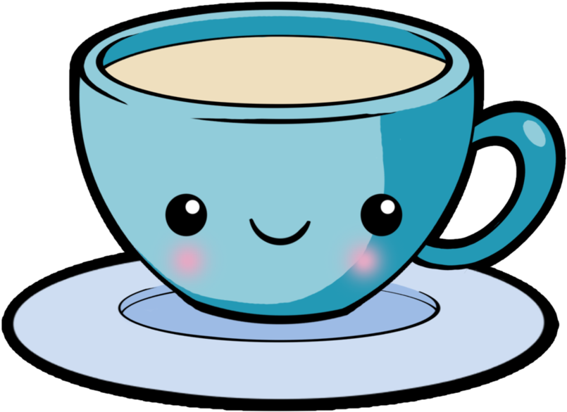 Animated tea cup and saucer clipart transparent background clipart Free Stock Chips Drawing Kawaii - Transparent Cartoon Tea Cup ... clipart