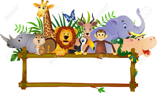 Animated zoo animal clipart freeuse stock Zoo Animal Clipart Border | Free Images at Clker.com - vector clip ... freeuse stock