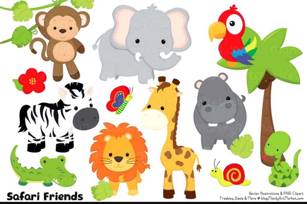 Animated zoo animal clipart clip freeuse stock Cute Baby Zoo Animals Clipart | Silver Wallpapers clip freeuse stock
