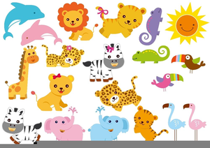 Animated zoo animal clipart graphic library download Clipart Cartoon Zoo Animals | Free Images at Clker.com - vector clip ... graphic library download