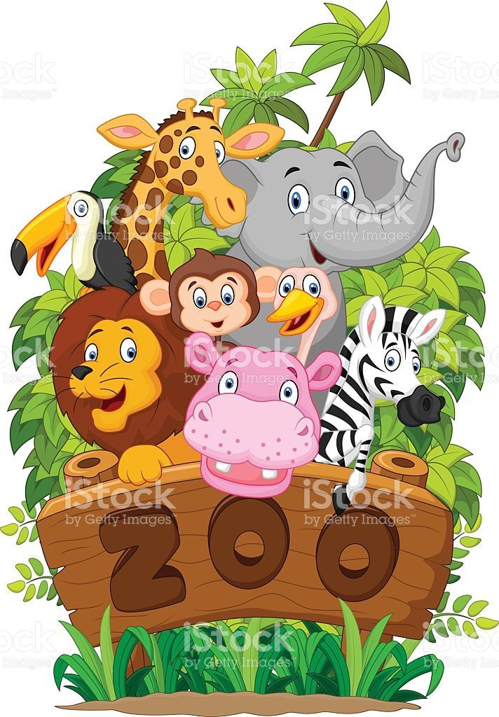 Animated zoo animal clipart clipart black and white download illustration of Collection of zoo animals | artwork | Zoo animals ... clipart black and white download