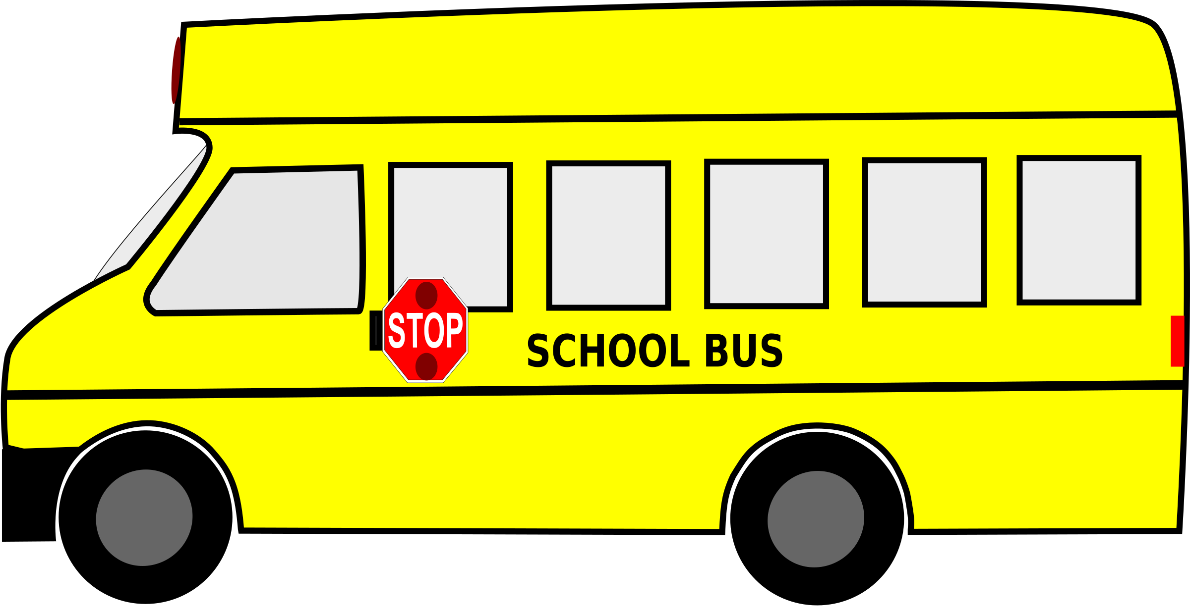 School cartoon clipart graphic library stock Clipart - Moving School Bus Animated SVG Clipart Free Download graphic library stock