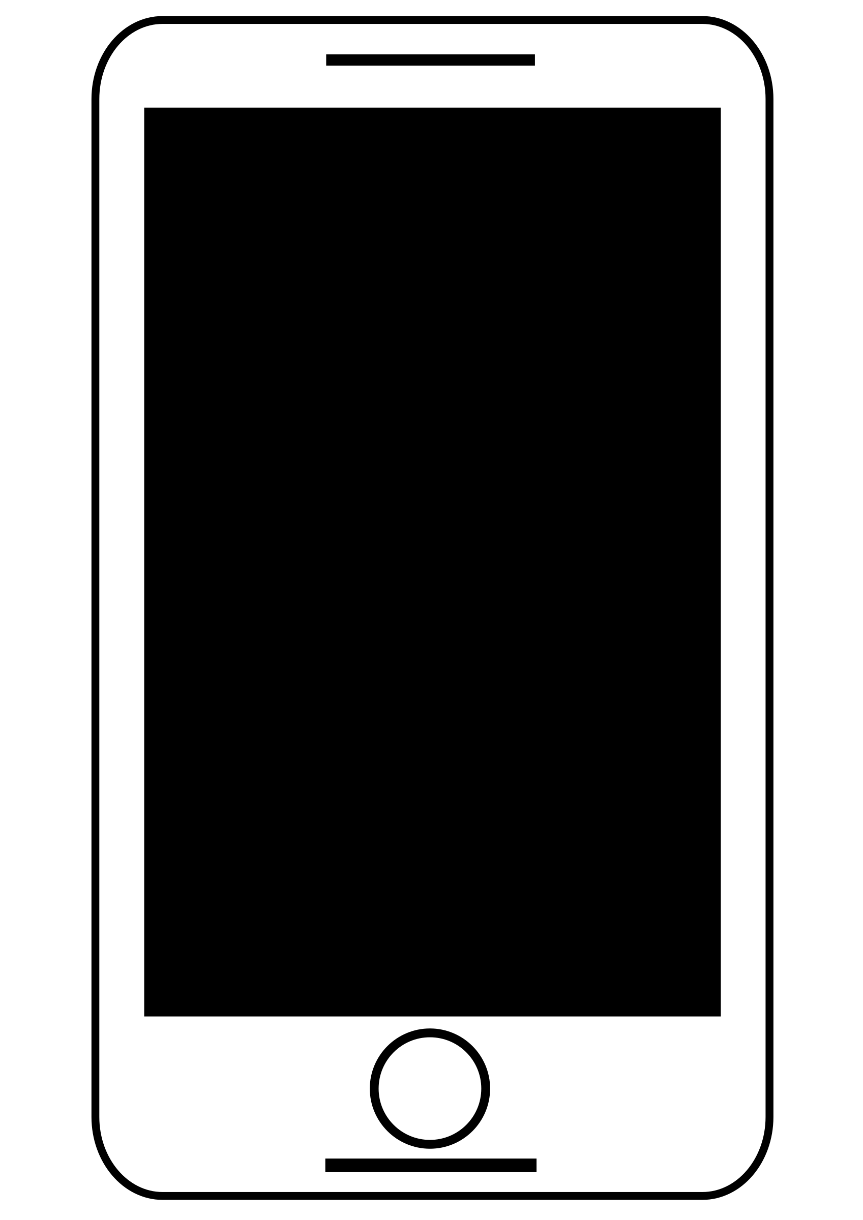 Animation clip art free download banner Animated Smart Phone Black And White - Free Download Clipart SVG ... banner