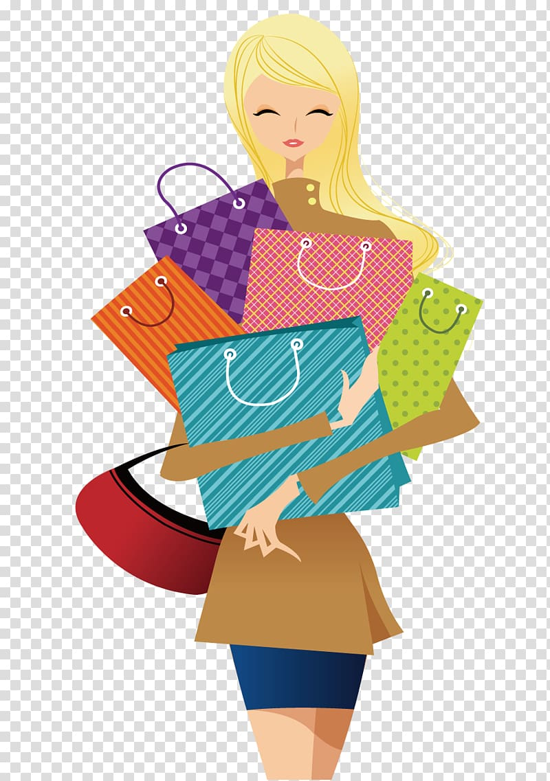Animation holding paper clipart picture freeuse download Animated girl holding paper bag , Shopping , Shopping woman ... picture freeuse download