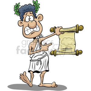 Animation holding paper clipart picture royalty free cartoon greek guy holding paper scroll clipart. Royalty-free clipart #  393533 picture royalty free