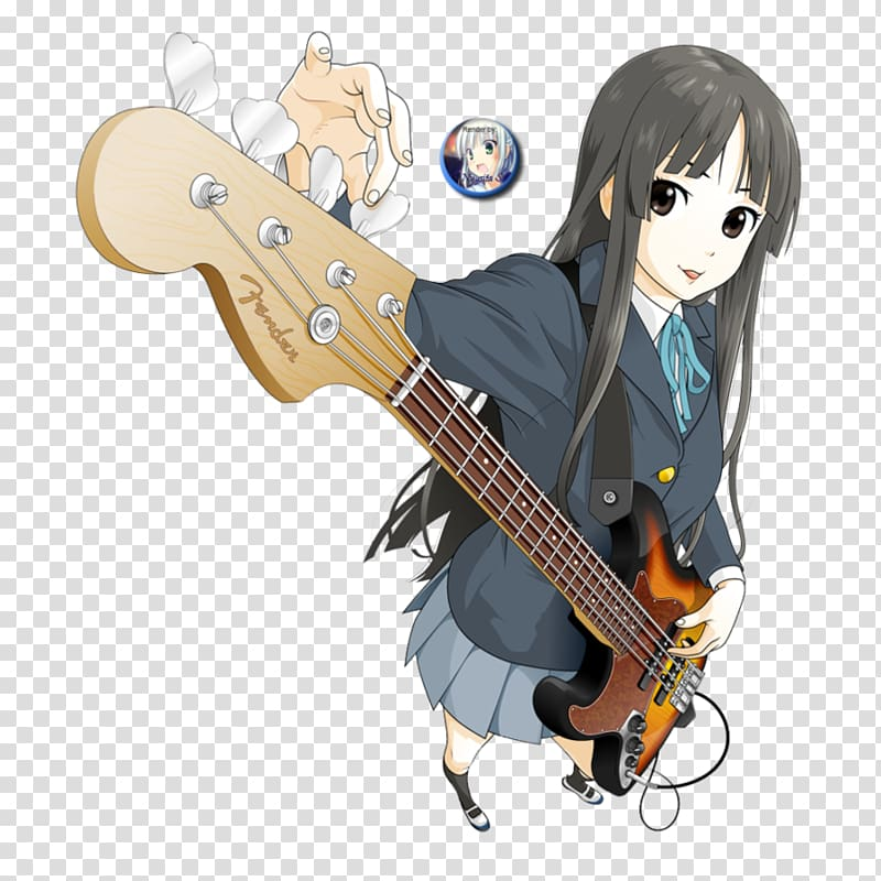 Anime acoustic guitar clipart clipart royalty free stock Mio Akiyama Bass guitar Anime K-On!, Bass Guitar transparent ... clipart royalty free stock