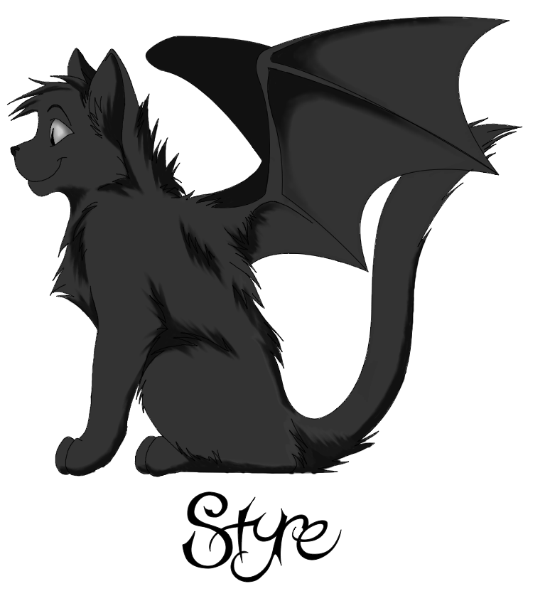 Cat angels clipart black and white image free library demon cat styre | Fantasy | Pinterest | Clip art and Angel image free library