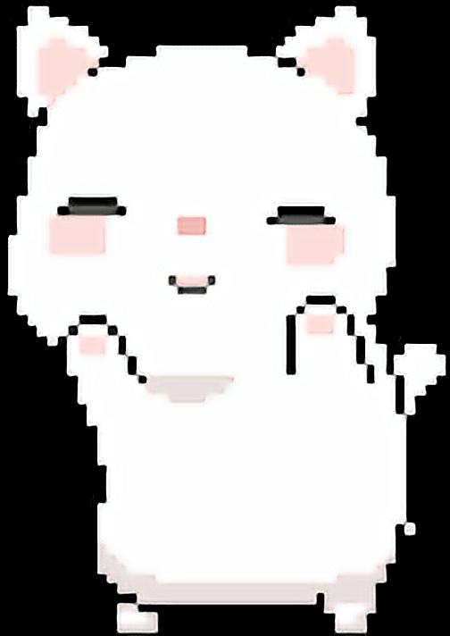 Anime cat clipart clipart library Cute kawaii pixel cat anime template... clipart library