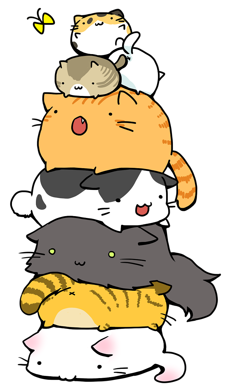 Anime cat clipart banner royalty free stock The third one looks like pus and the fourth looks like nibbles ... banner royalty free stock